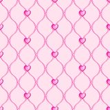 Pink seamless glass beads Stock Photos