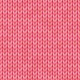 Pink Seamless knitted pattern. Woolen cloth. Christmas Red Knitted Pattern for greeting card, banner, backgrounds. Pink Seamless knitted pattern. Woolen cloth Royalty Free Stock Images
