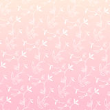 Pink seamless leaves background Royalty Free Stock Photos