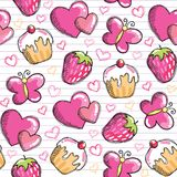 Pink seamless pattern Stock Image