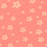Pink seamless pattern background with flowers Stock Photo