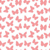 Pink seamless pattern butterfly Royalty Free Stock Photo