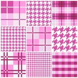 Pink seamless pattern collection Stock Photos