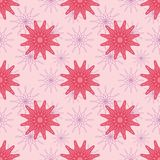 Pink Flowers Seamless Pattern Royalty Free Stock Photos