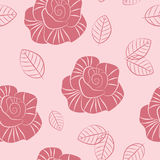 Pink seamless pattern Stock Photos