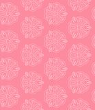 Pink seamless pattern with flowers Stock Images
