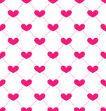 Pink Seamless Pattern with Hearts for Valentines Day Royalty Free Stock Photography
