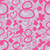 38 pink seamless pattern Stock Images