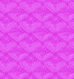 Pink seamless pattern with linear hearts. Decorative netting texture Royalty Free Stock Images