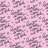 PINK SEAMLESS PATTERN for print and scrapbooking. Decoration and wall paper royalty free illustration