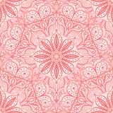 Pink seamless pattern of round lacy napkins. Royalty Free Stock Images