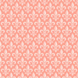 Pink seamless pattern with royal lily. Vector background Royalty Free Stock Photos