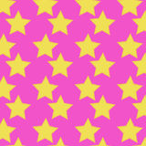 Pink seamless pattern. Pink vector seamless pattern with stars Royalty Free Stock Images