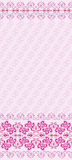 Pink seamless pattern with wide border Stock Image