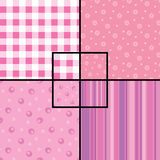 Pink seamless patterns Stock Photography