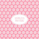 Pink seamless snowflakes pattern. Vector snow Stock Photos