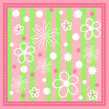 Pink seamless with stitch. Royalty Free Stock Photo