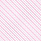 Pink seamless tilted striped pattern packaging paper background. In vector format Royalty Free Stock Photography