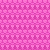 Pink seamless vector pattern. With hearts and beads Royalty Free Stock Photo