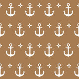 Pink seamless vector pattern. Sea anchor. Monochrome seamless vector pattern. Nautical theme. The texture may be used for printing on fabric or paper and in web stock illustration