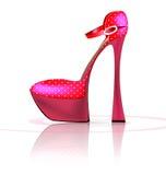 Pink semi-shoe Stock Photos