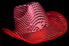 Pink Sequin Cowboy Hat Royalty Free Stock Photo