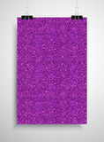 Pink sequin poster on the wall. Eps 10. Royalty Free Stock Photography