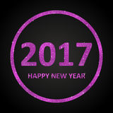 Pink Sequins New 2017 Year. Star. Circle. Happy New Year background for your card. Sparkle glitter background. Glittering Pink sequins frame. Star. Eps10 Stock Images