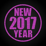 Pink Sequins New 2017 Year. Star. Circle. Stock Photography