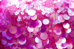 Pink sequins pattern texture background Stock Photography