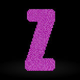 Pink sequins sings. Sequins alphabet. Eps 10. Royalty Free Stock Image