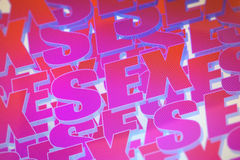 Pink sex word background Royalty Free Stock Image