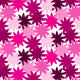 Pink shade flower overlapped abstract pattern background. Vector illustration image Stock Photography