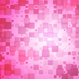 Pink shades red glowing rounded tiles background Stock Photos