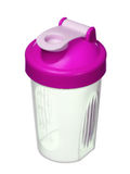Pink shaker for protein powder for girl isolated on white Stock Image
