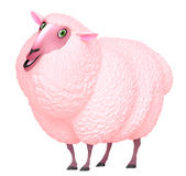 Pink sheep Stock Photos