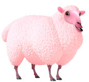 Pink sheep Royalty Free Stock Images