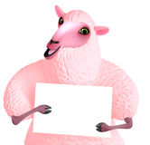 Pink sheep Stock Photography