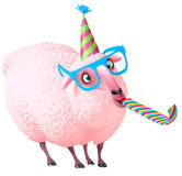 Pink sheep Royalty Free Stock Photos