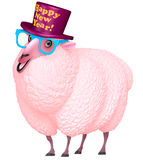 Pink sheep Stock Image