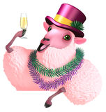 Pink sheep Royalty Free Stock Photo