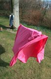 Pink Sheet Drying Royalty Free Stock Images