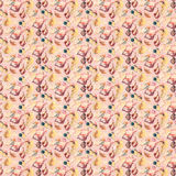 Pink shell illustration repeat background pattern vector illustration