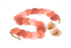 Pink Shell Necklace Overhead View Royalty Free Stock Photo