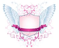pink shield, squiggle, vector Royalty Free Stock Image