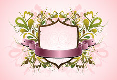 Pink shield , vector Stock Image
