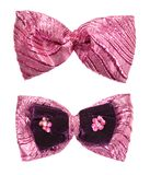 Pink shine bow tie isolated Royalty Free Stock Images