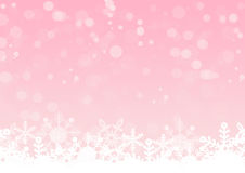 Pink shines with snow crystals background.  royalty free illustration