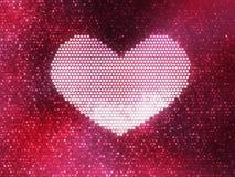 Pink shining heart Stock Photos