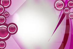 Pink shiny circle and wave, abstract background Stock Image